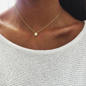 Jewelry - Tiny Mini Dainty Gold Star Necklace